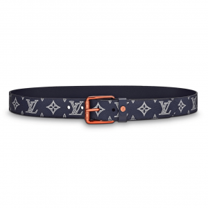 LOUIS VUITTON BELT VOYAGER MONOGRAM UPSIDE DOWN INK NAVY - B99