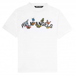 PALM ANGELS BUTTERFLY COLLEGE TEE - PA17
