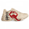 GUCCI RHYTON SNEAKER WITH MOUTH PRINT