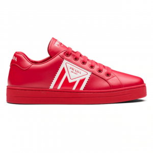 PRADA LEATHER SNEAKERS - PD37