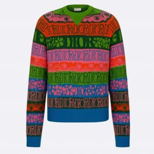 DIOR X SHAWN STUSSY MULTICOLOR STRIPED SWEATER - CD13