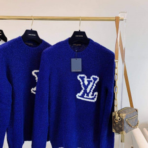 LOUIS VUITTON CREW NECK SILK LONG SLEEVES LUXURY SWEATERS - LV1