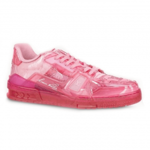 LOUIS VUITTON TRAINER SNEAKER IN ROSE - LV283
