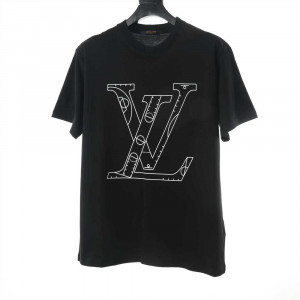 Louis Vuitton NBA Front And Black Print T-Shirt - LSVTS01