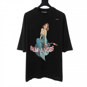 PA Cotton Embroidered Mermaid Double Layered T-Shirt With Print - PA26