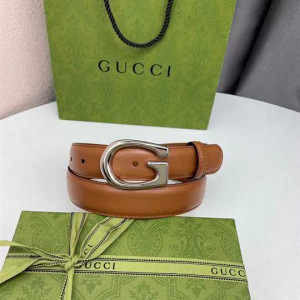 Thin belt with G buckle