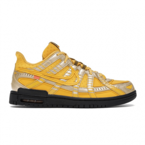 NIKE AIR RUBBER DUNK OFF-WHITE UNIVERSITY GOLD - NK34
