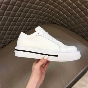 PRADA MACRO RE-NYLON AND BRUSHED LEATHER SNEAKERS - PD022