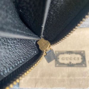 Gucci gg Marmont Leather Zip Around Wallet Black Metal Free Tanned Leather Double G - WEG003