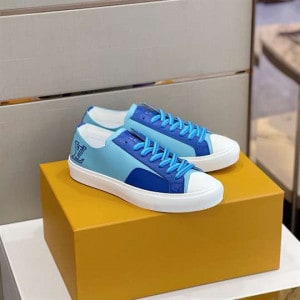Louis Vuitton Tattoo Sneakers Blue Grained Calf Leather - LSVT113