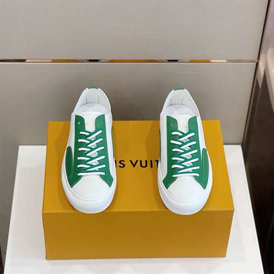 Louis Vuitton Tattoo Sneakers Green Grained Calf Leather - LSVT114