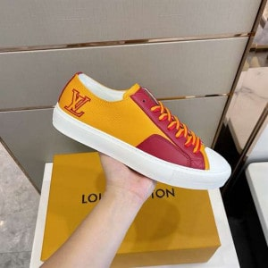 Louis Vuitton Tattoo Sneakers Yellow Grained Calf Leather - LSVT112